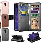 For Samsung S9 Plus Magnetic Card Leather Wallet Flip Stand