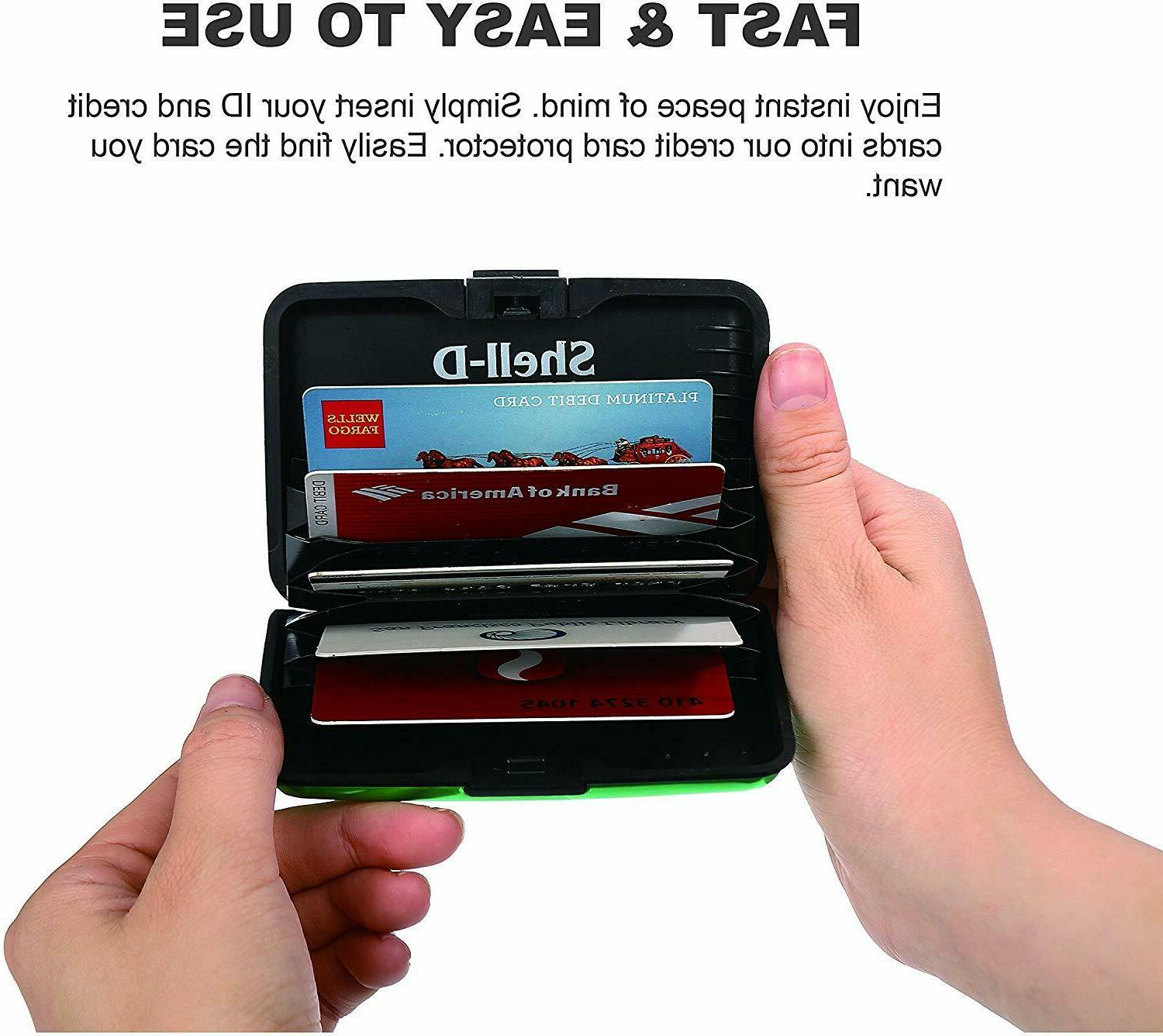 Shell-D RFID Blocking Credit Card Holder  New To Protect You