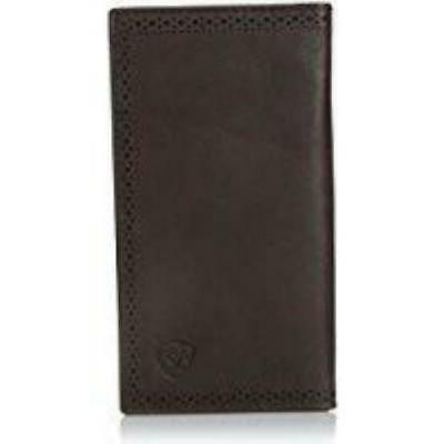 shield perforated edge rodeo wallet wallet dark