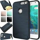 Shockproof Hybrid Card Wallet Stand Rubber Hard Case Cover F