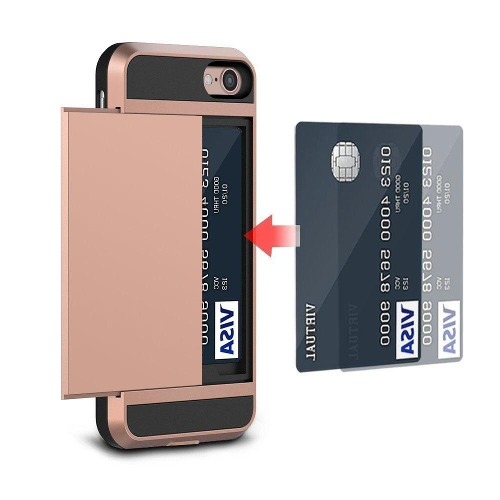 Fits iPhone 8 7 Plus Shockproof Credit Card Holder Case Cover