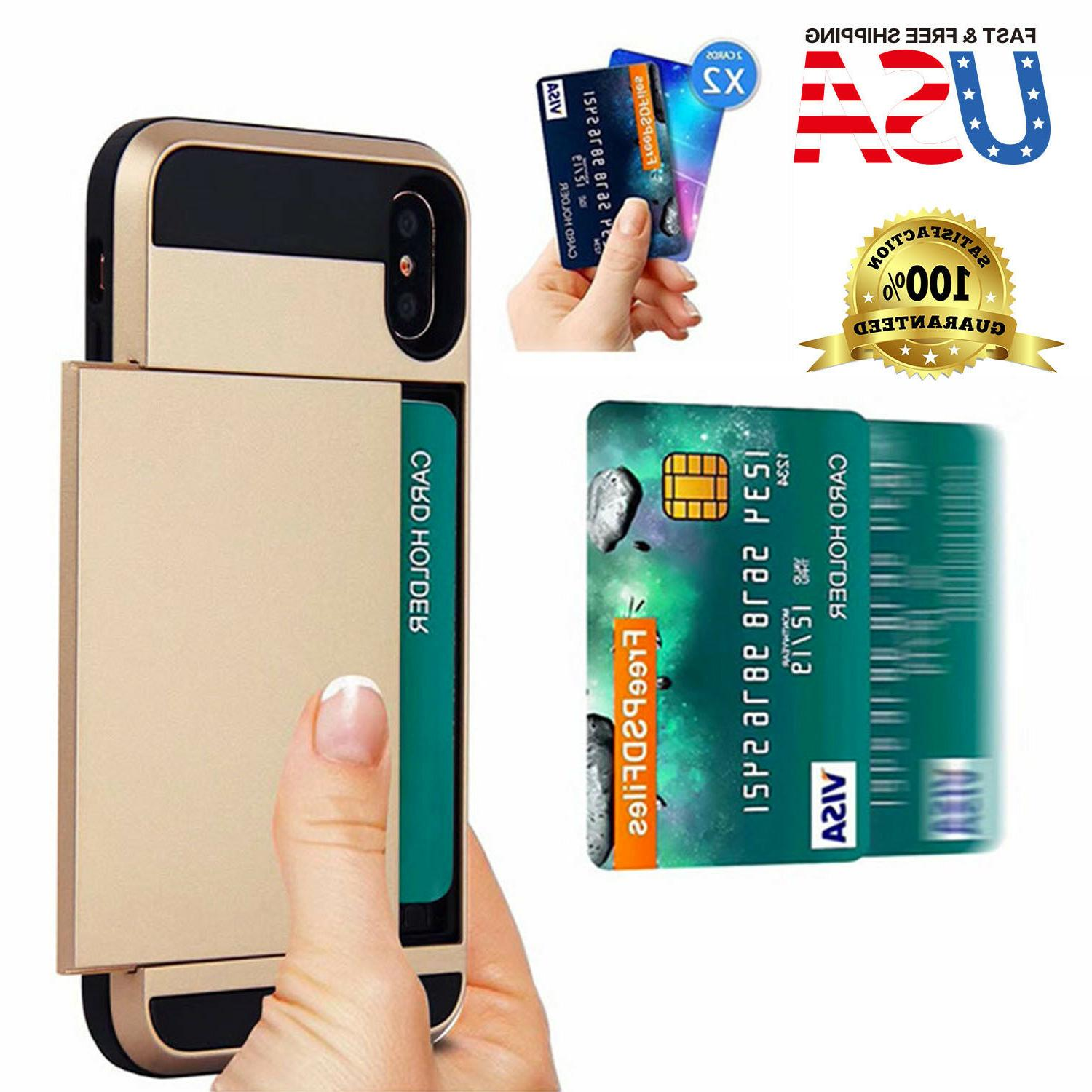 shockproof wallet credit card holder case cover