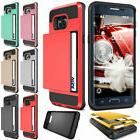 slide wallet case card pocket shockproof hybrid
