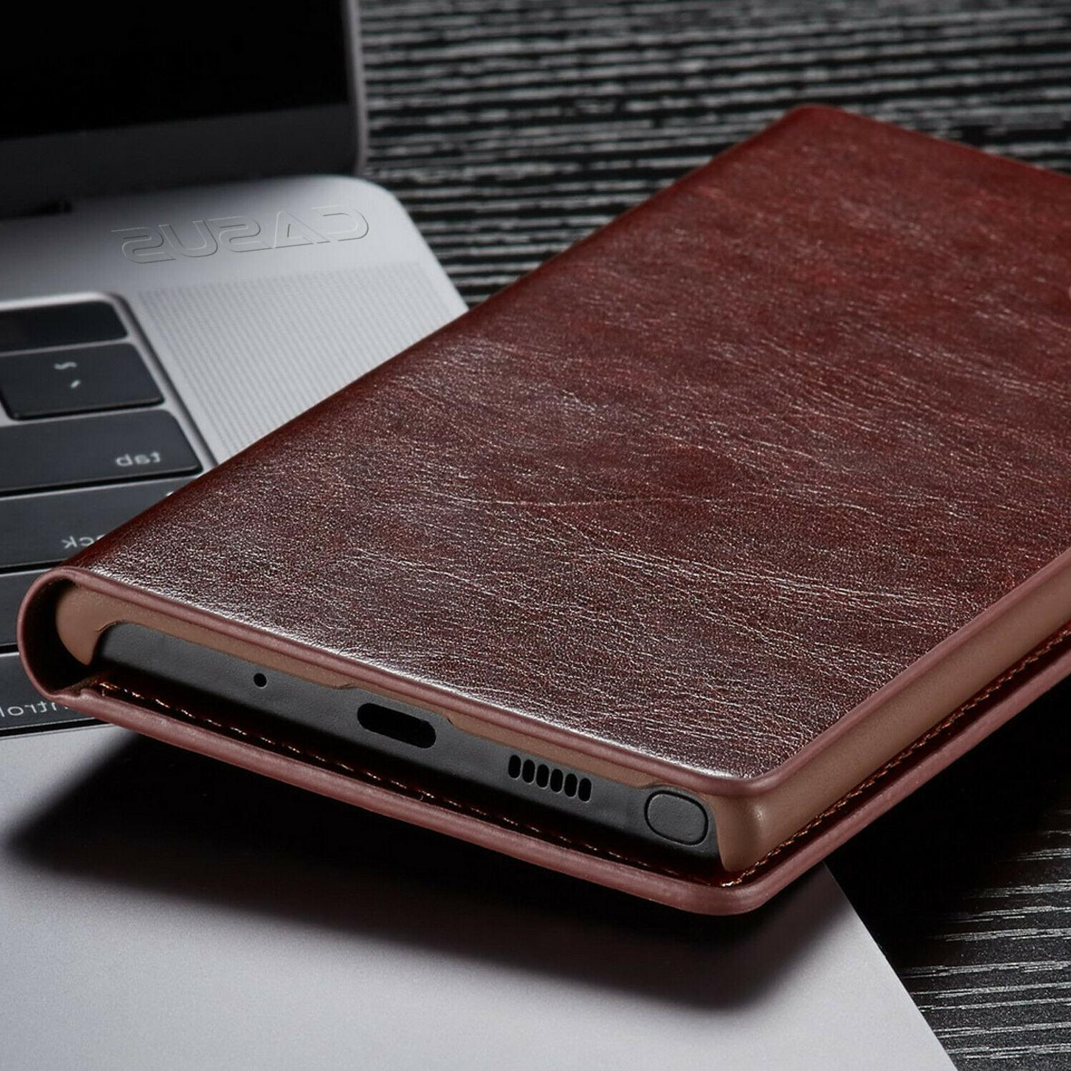 SLIM Leather Card Case Galaxy 10/9 S10/S9/S8 Plus