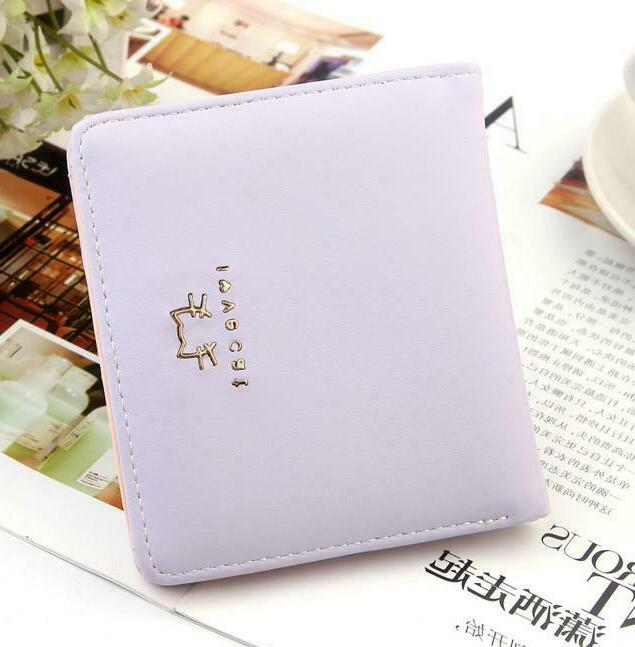 Small for Women Bifold Leather Short Mini Purse Holder