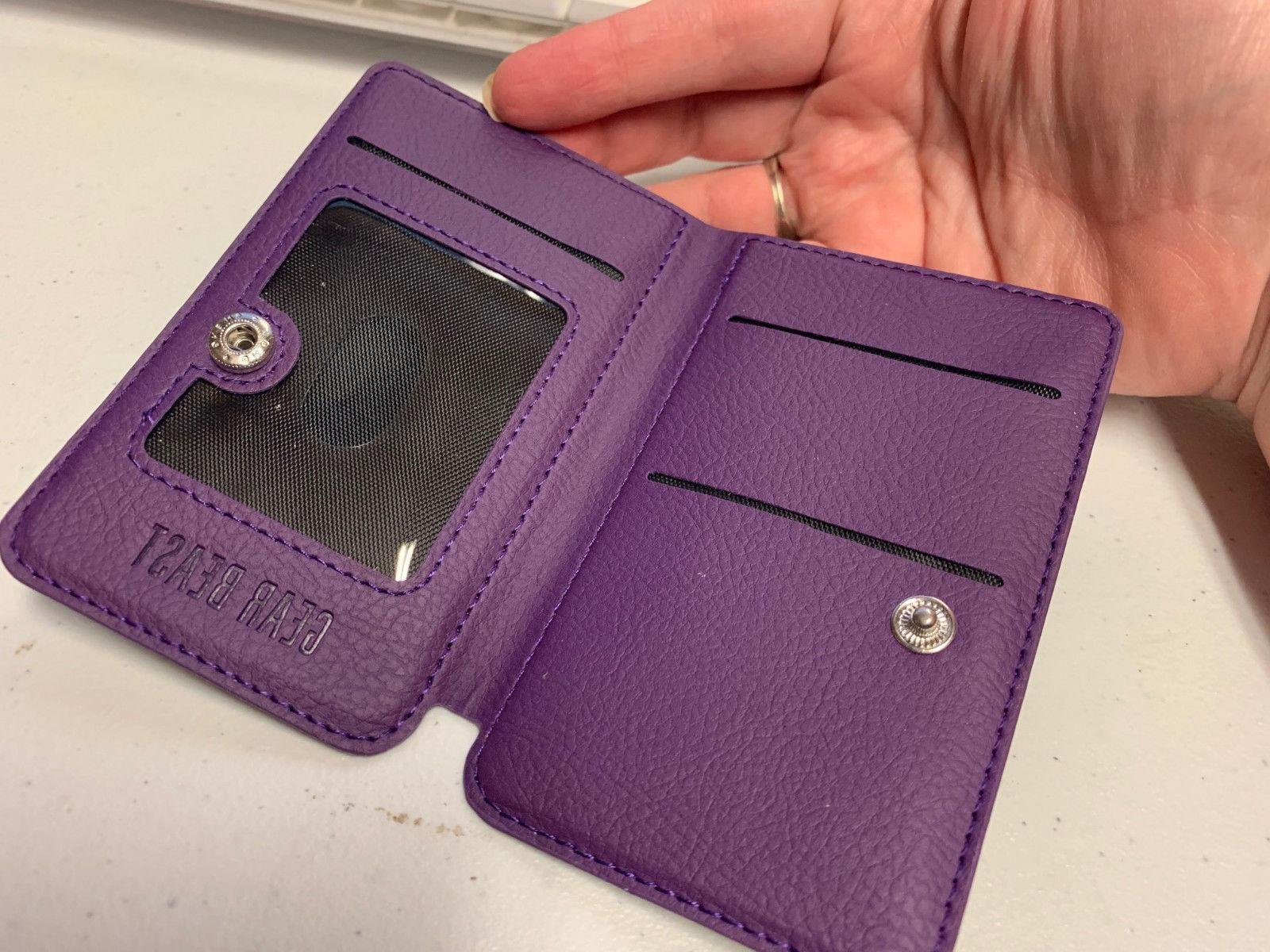 smart phone wallet purple new