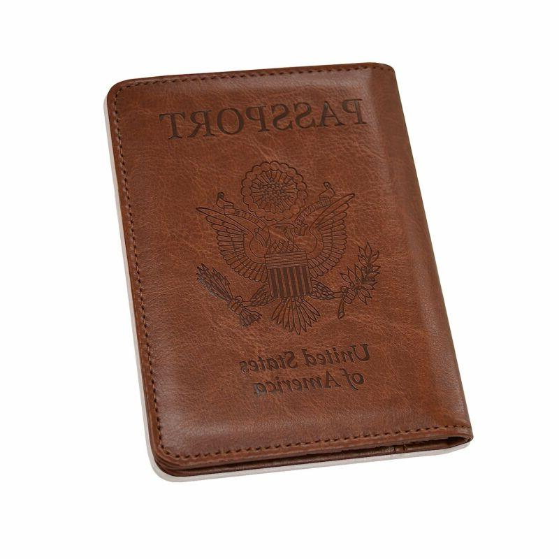 Solid Leather Cover Holder Wallet