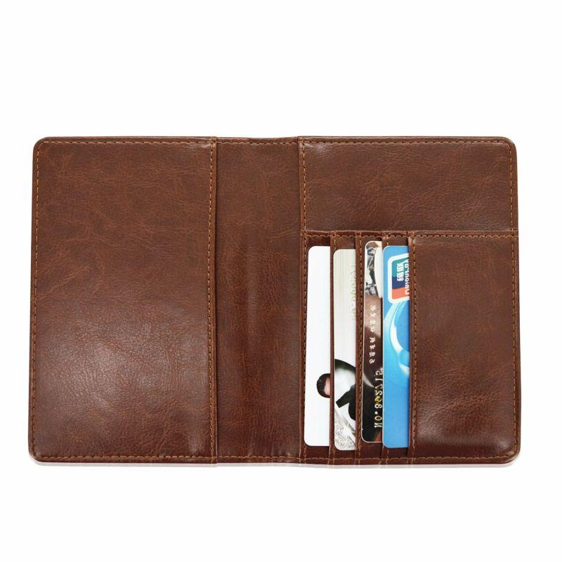 Solid PU Leather Cover Wallet