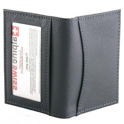 Alpine Swiss Thin Pocket Case ID Window