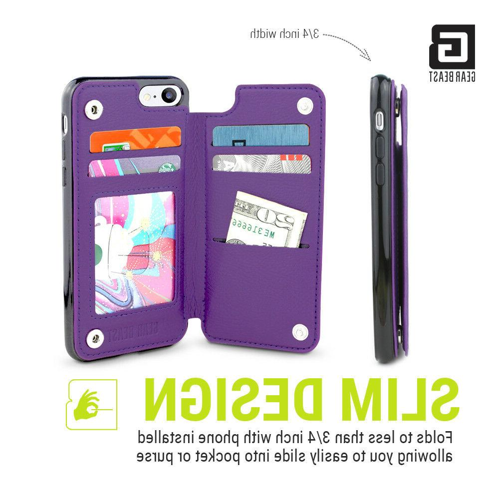 topview rear folio wallet case for iphone