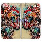 Bcov Tribal Floral Elephant Leather Wallet Cover Case For iP