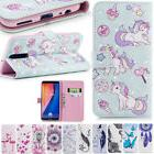 Unicorn 3D Flip Leather Wallet Phone Case Cover For iPhone S