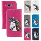 Unicorn Pattern PU Leather Wallet Case Cover for Samsung Gal