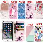 Unicorn Rose Flip Wallet Leather Case Cover Magntic For iPho