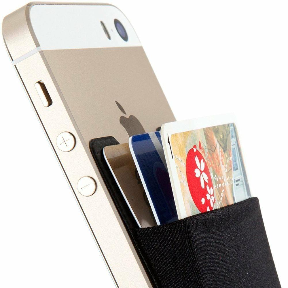 universal adhesive pocket stick on wallet card