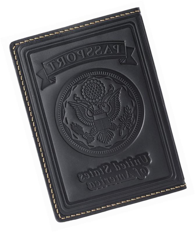 us passport holder cover case leather wallet