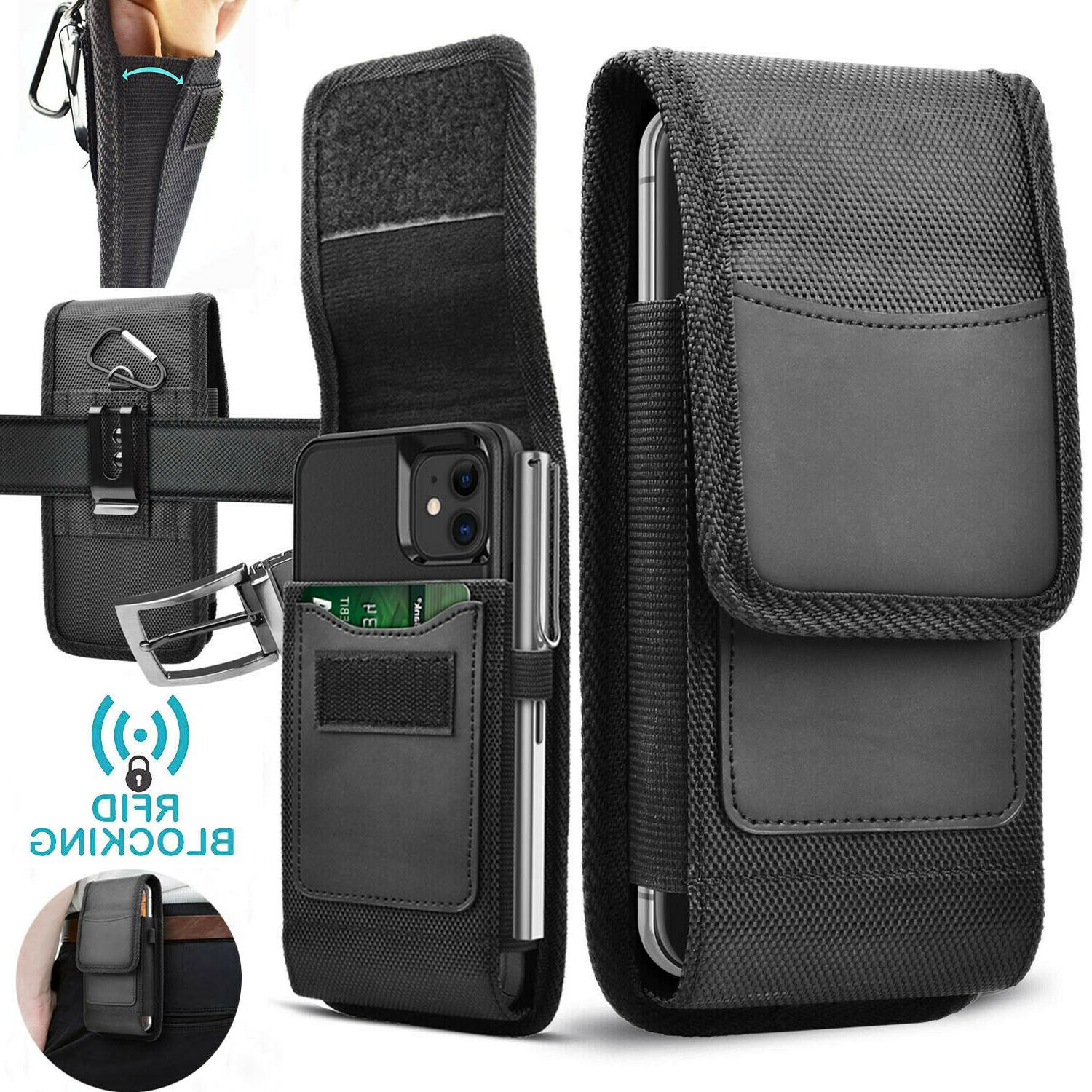 vertical cell phone holster pouch with belt
