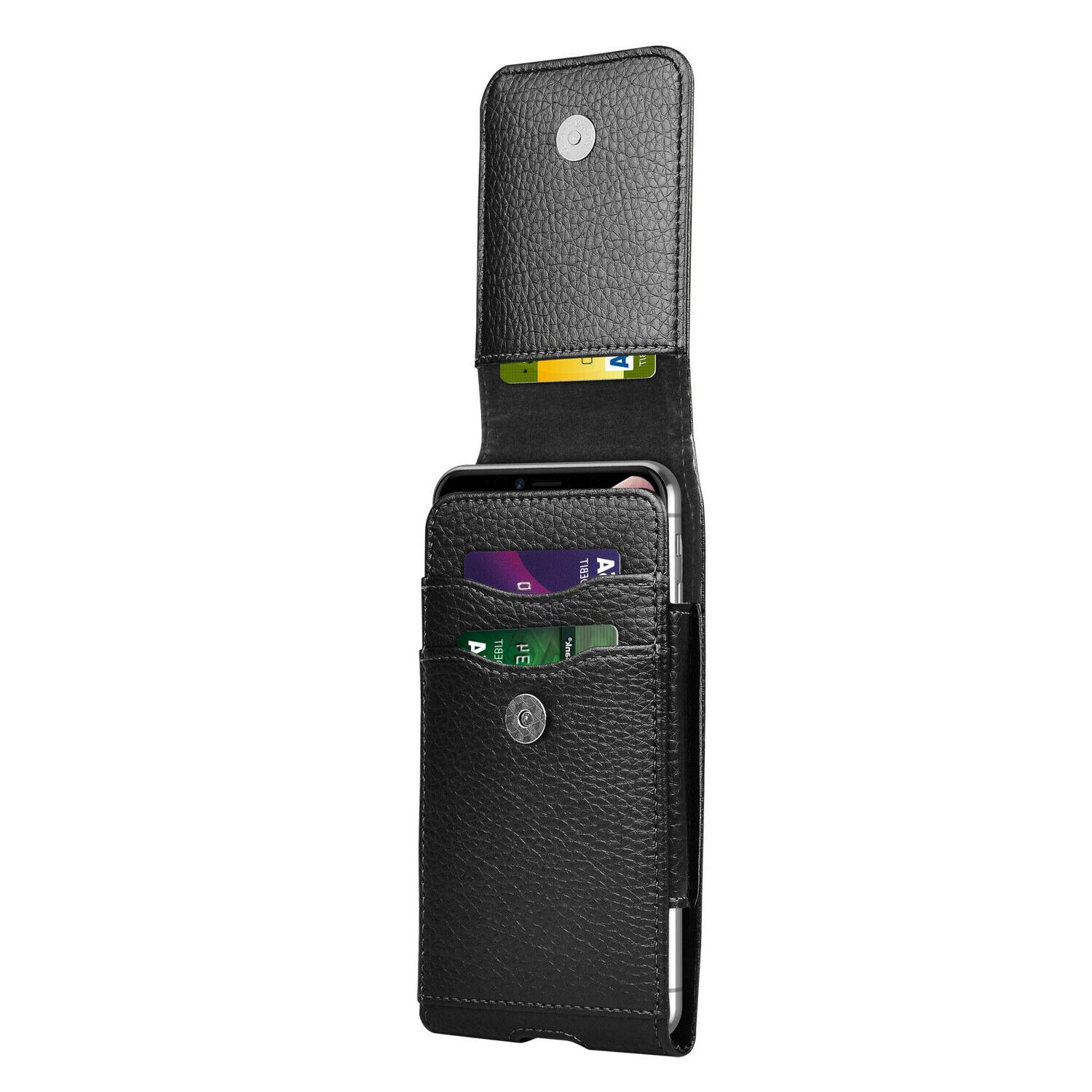 Vertical Holster Leather Case With For iPhone