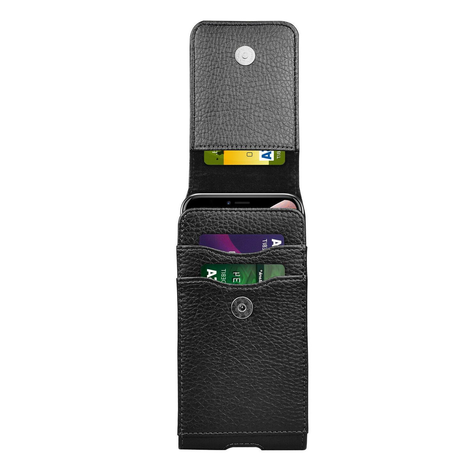 Vertical Cell Holster Wallet With Clip iPhone
