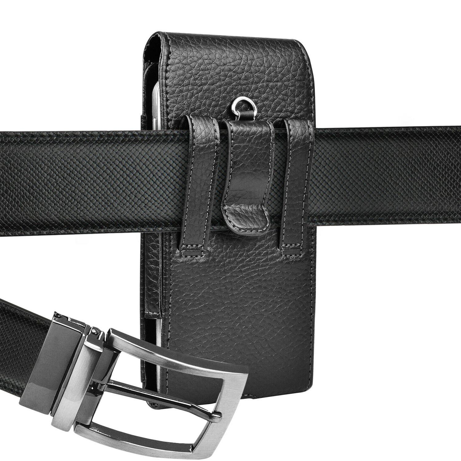 Vertical Cell Holster Wallet Case With Belt Clip iPhone