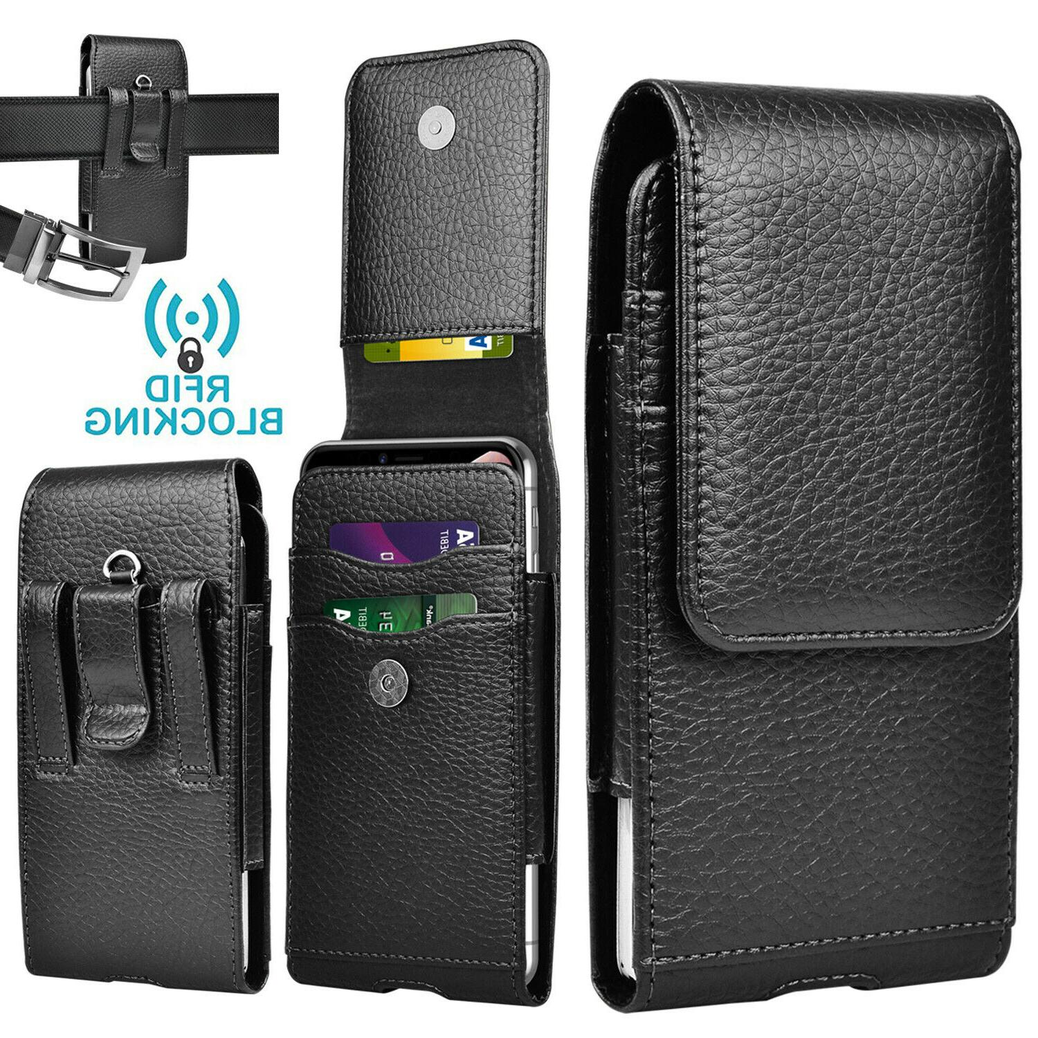vertical cell phone pouch holster leather wallet