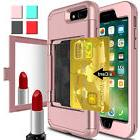 Wallet Card Slot Holder Mirror Stand Shockproof Case Cover F
