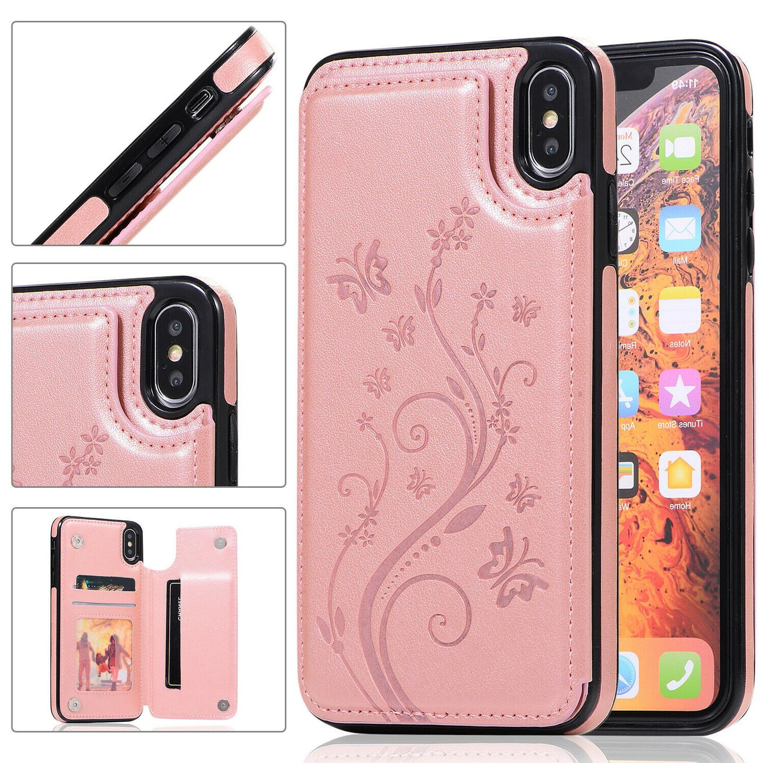 Case For 11 Pro XS Max XR 6Plus Magnetic Leather Phone