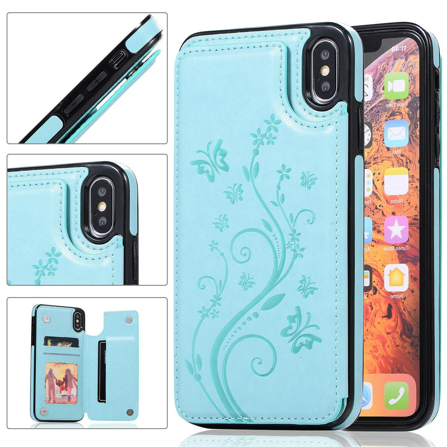 Case Cover For 11 XR X 8 6Plus Magnetic Wallet Phone