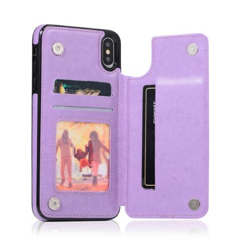Case Cover For 11 Pro XS XR X 8 6Plus Magnetic Leather Wallet Phone