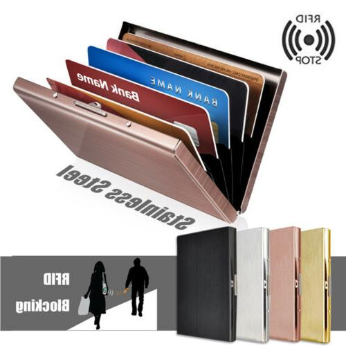 Men Anti-scan Slim RFID Blocking ID Holder US