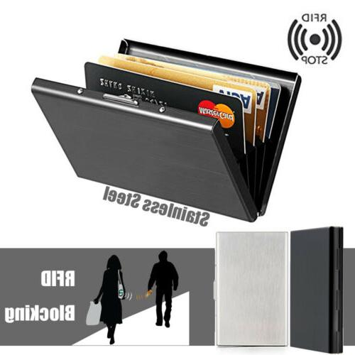 Men Anti-scan Slim RFID Wallet ID Card Holder US