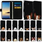Wallet Pouch Case Cover with Dog Design for Samsung Galaxy N