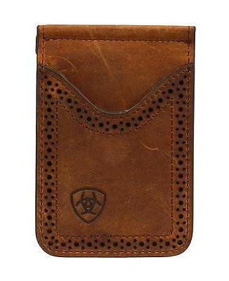 western mens wallet leather card case clip