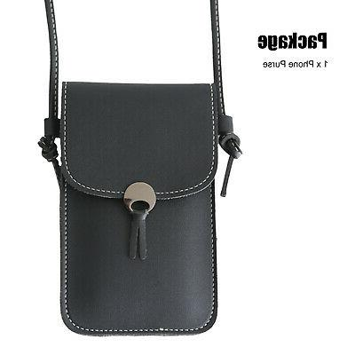 Women Lady Cell Case Purse Wallet Shoulder Crossbody