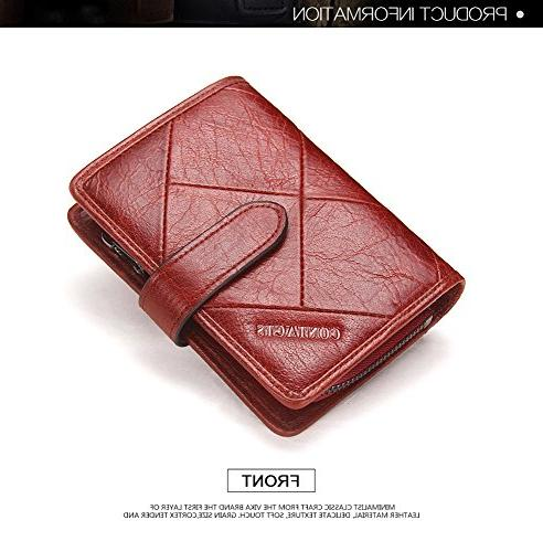 Women's Leather Vintage with Credit Bifold Wallet
