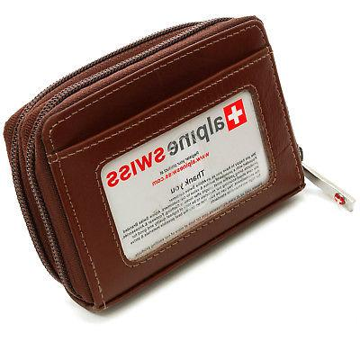 Alpine Swiss Womens Accordion Organizer Wallet Leather Credi