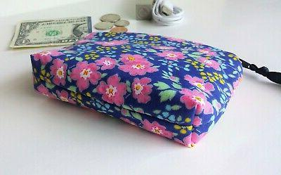Handmade Wallet Mini Earbuds Case Floral