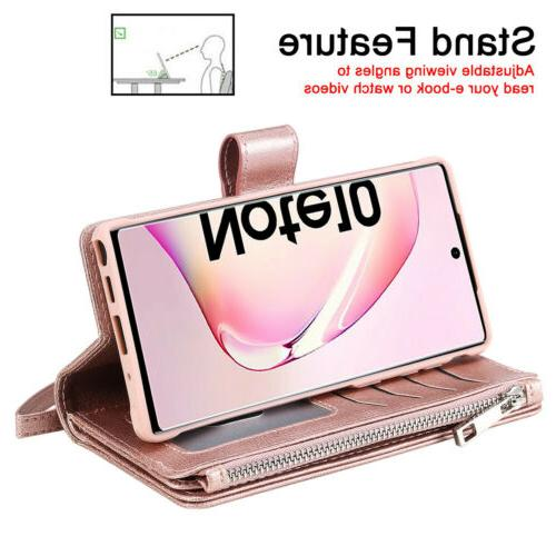 Zipper Wallet Case For S20 S8 10 Removable