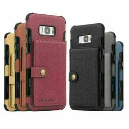 Leather Case Wallet Card Cover For Galaxy S10 E S20 Ultra S9