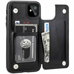 leather flip wallet card holder case cover