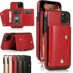 Leather Flip Wallet Card Holder Case Cover For iPhone 11 XS