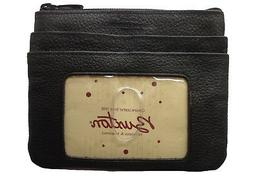 Buxton Womens Leather ID Coin Card Case Wallet