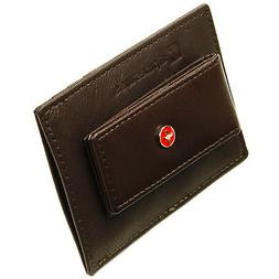 leather money clip wallet slim