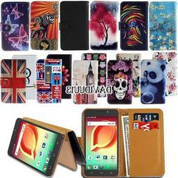 Leather Smart Stand Wallet Case Cover For Various Alcatel Sm