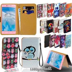 Leather Stand Flip Card Wallet Cover Case For Various doov S