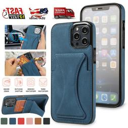 Leather Wallet Card Holder Stand Case For iPhone 13 12 Pro M