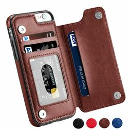 iPhone X XS Max XR Samsung S9+ Note 9 Leather Wallet Card Sl