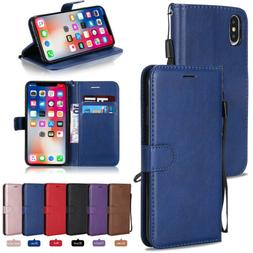 Leather Wallet Case Flip Cover For Apple iPhone 6 7 8 Plus X