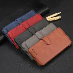 Leather Wallet Flip Card Holder Case Covers For iPhone XR XS