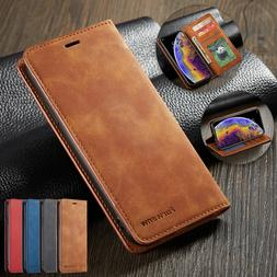 Leather Wallet Flip Stand Card Holder Case Cover For iPhone